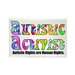 Autistic Activist v1 Rectangle Magnet