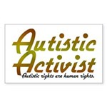 Autistic Activist v2 Sticker (Rectangle)