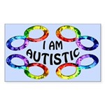 I Am Autistic Sticker (Rectangle)