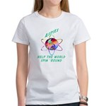 Aspies Spin the World Women's T-Shirt