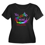 My Autistic Mind Women's Plus Size Scoop Neck Dark