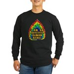 I Am Human Long Sleeve Dark T-Shirt