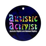 Autistic Activist v1 Ornament (Round)