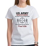Infantry Sniper Crosshairs Wife Women's T-Shirt