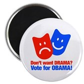 Vote Obama: No Drama! Magnet