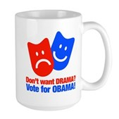 Vote Obama: No Drama! Large Mug