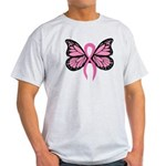 Breast Cancer Butterfly Light T-Shirt