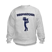 Kokopelli Birdwatcher Kids Sweatshirt