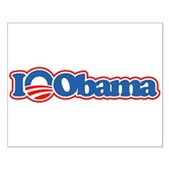 I Love Obama Small Poster