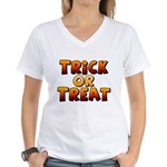 Trick or Treat Women's V-Neck T-Shirt