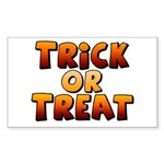 Trick or Treat Sticker (Rectangle)