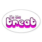 Retro I'm the Treat Oval Sticker (Oval)