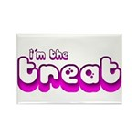 Retro I'm the Treat Rectangle Magnet