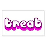 Retro Treat Rectangle Sticker 50 pk)