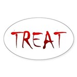 Bloody Treat Oval Sticker (50 pk)