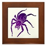 Purple Spider Framed Tile