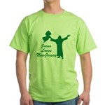 Jesus Loves New Jersey Green T-Shirt