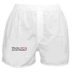 Who Is Joe The Plumber Boxer Shorts