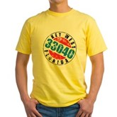 Vintage Key West 33040 Yellow T-Shirt