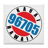 Kauai Hawaii 96705 Tile Coaster