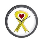 Keep My Sailor Safe Yellow Ribbon Wall Clock