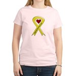 Husband Safe Yellow Ribbon of Support Women's Pink