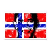 America loves Barack Obama. The world loves Barack Obama. And Norway loves Barack Obama! Obama's face is superimposed over the Norwegian flag. Norwegians for Obama will love this Norway Obama design.