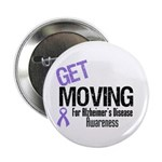 "Get Moving Alzheimer's 2.25"" Button (10 pack)"