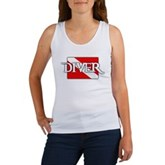 Pirate-style Diver Flag Women's Tank Top