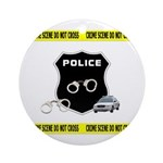 Police Crime Scene Ornament (Round)