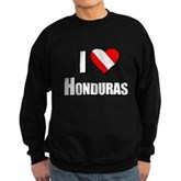  Scuba: I Love Honduras Sweatshirt (dark)