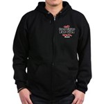 Everyone loves a Fat girl Zip Hoodie (dark)