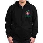 Aspies Spin the World Zip Hoodie (dark)