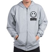 Obama Makes Me Smile Zip Hoodie