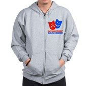 Vote Obama: No Drama! Zip Hoodie