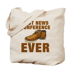 Anti-Bush Best News Conference Ever Shoe Incident Tote Bag