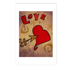 Love and a Big Heart Postcards (Package of 8)
