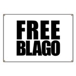 Free Illinois Governor Blagojevich, he's innocent! Banner