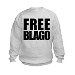 Free Illinois Governor Blagojevich, he's innocent! Kids Sweatshirt