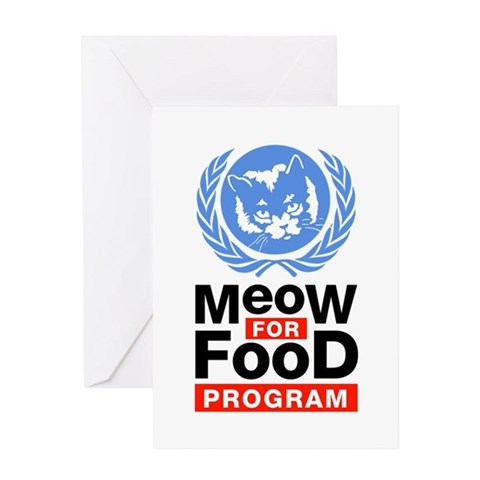 Meow For Food Program Greeting Card