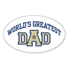 World's Greatest Dad Sticker (Oval)