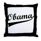 Obama Swish Throw Pillow