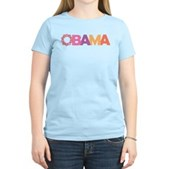 Obama Flowers Women's Light T-Shirt