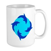 Dolphin Ring Large Mug