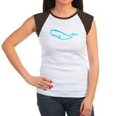 Stylized Sperm Whale Women's Cap Sleeve T-Shirt