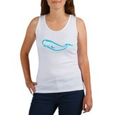 Stylized Sperm Whale Women's Tank Top