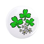 "Irish Shamrocks 3.5"" Button (100 pack)"