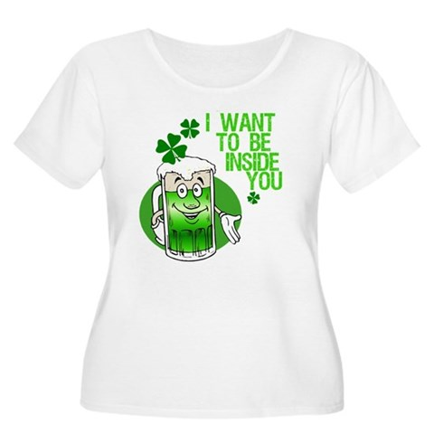 6c94a630e08 Funny Irish Beer Quote Women s Plus Size Scoop Neck T-Shirt   St ...