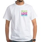Two Sides Printed White T-Shirt