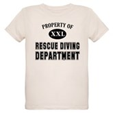 Rescue Diving Department Organic Kids T-Shirt